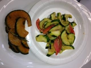 ズッキーニとトマトの和えもの、オリーブオイル焼き.JPG